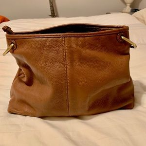 Stone Mountain brown pebbled leather bag